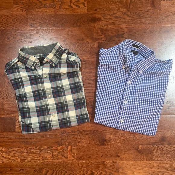 TWO J Crew Buttondown Shirts Size Medium